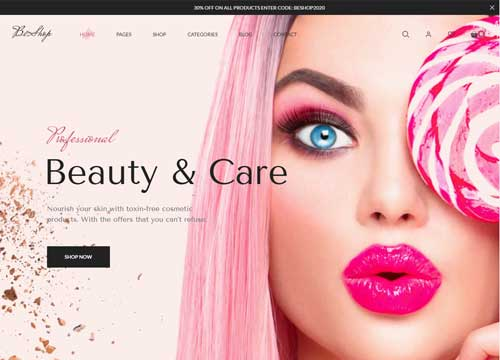 Beauty Treatments Website Designs